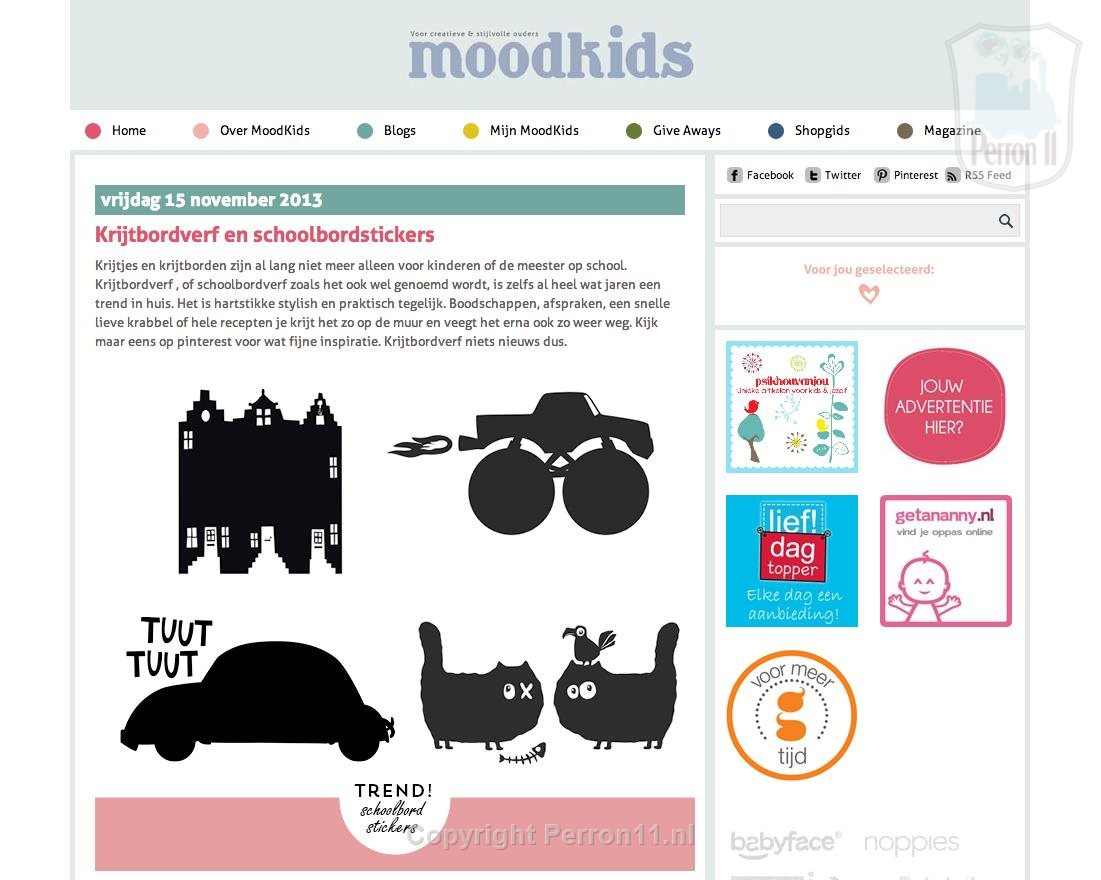 Mood Kids magazine blackboard wall stickers stickers