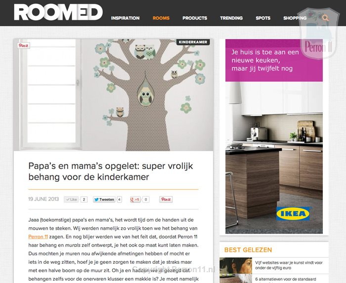 Roomed.nl blog about Perron 11 nursery wallpaper