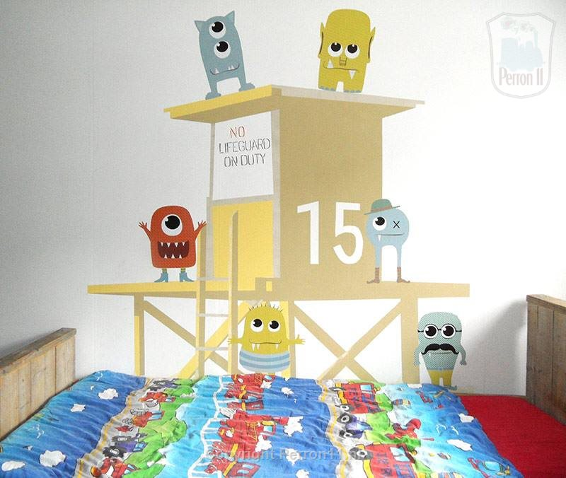 Monster wall stickers wall decoration diy beach